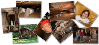 photo collage for Marengo Cave