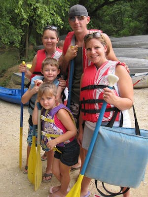Cute Paddler Family