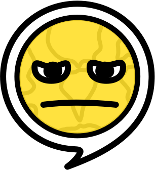 Unhappy emoji