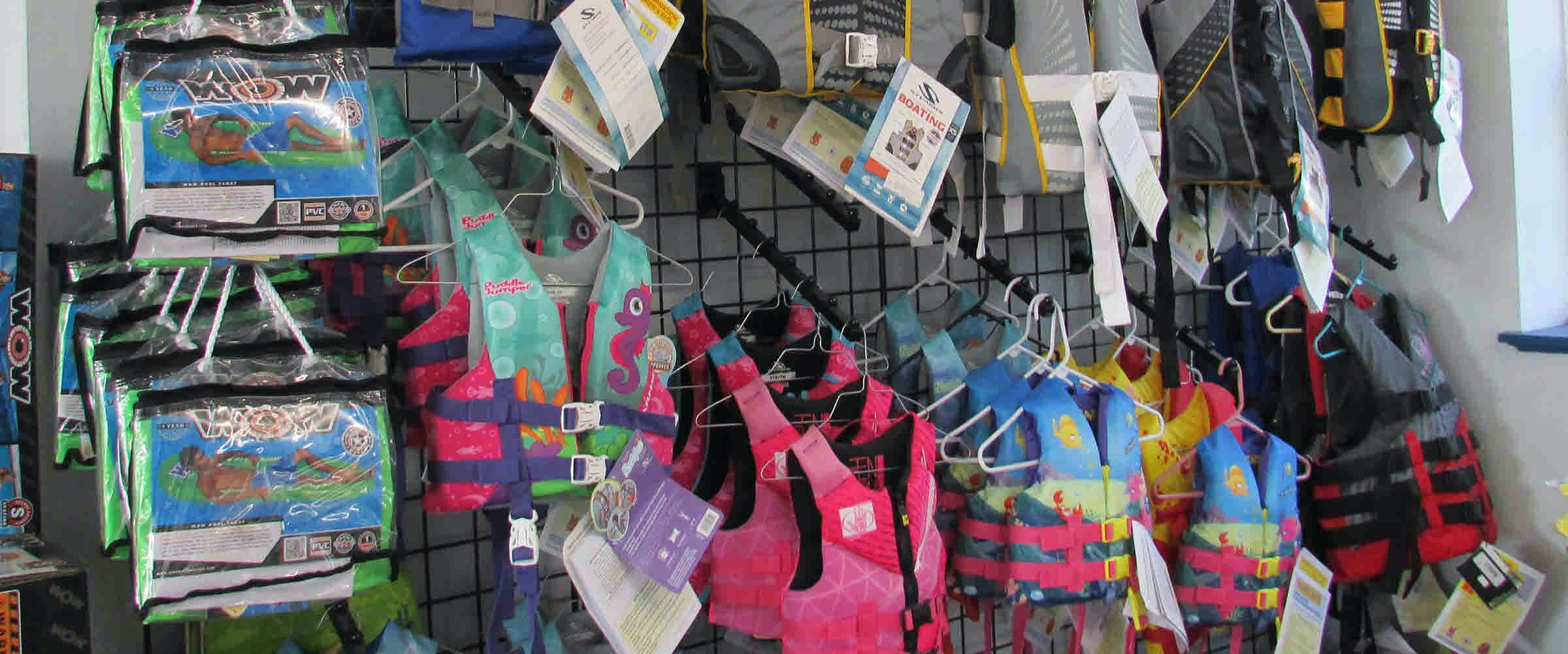 <p>GREAT SELECTION OF LIFE JACKETS</p>