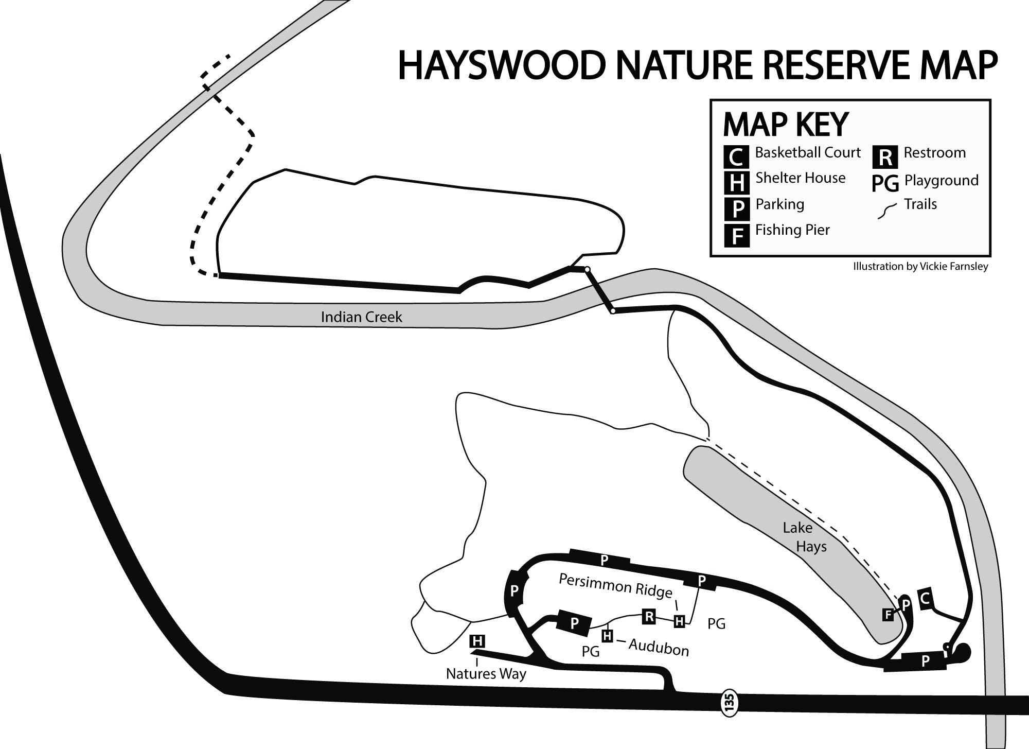 Hayswood Nature Reserve Park Map