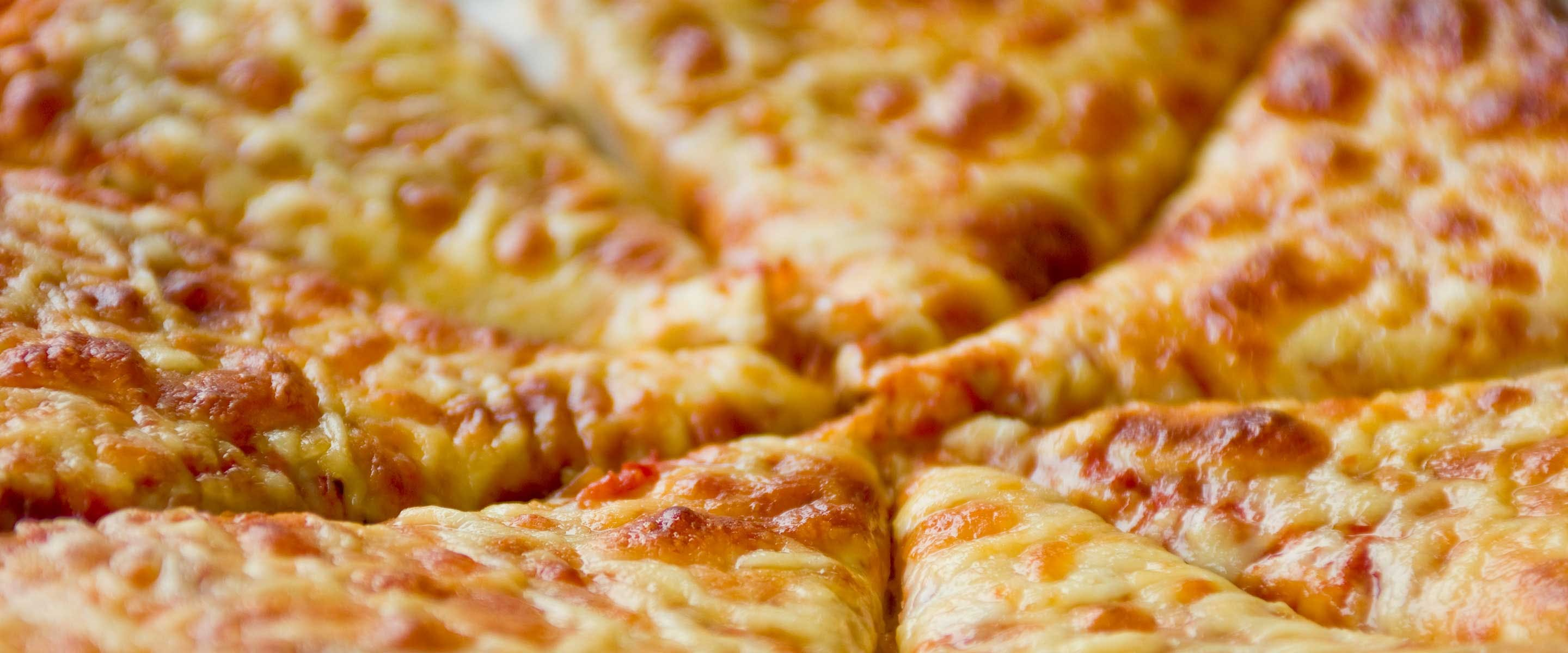 delicious warm cheese pizza ready to eat