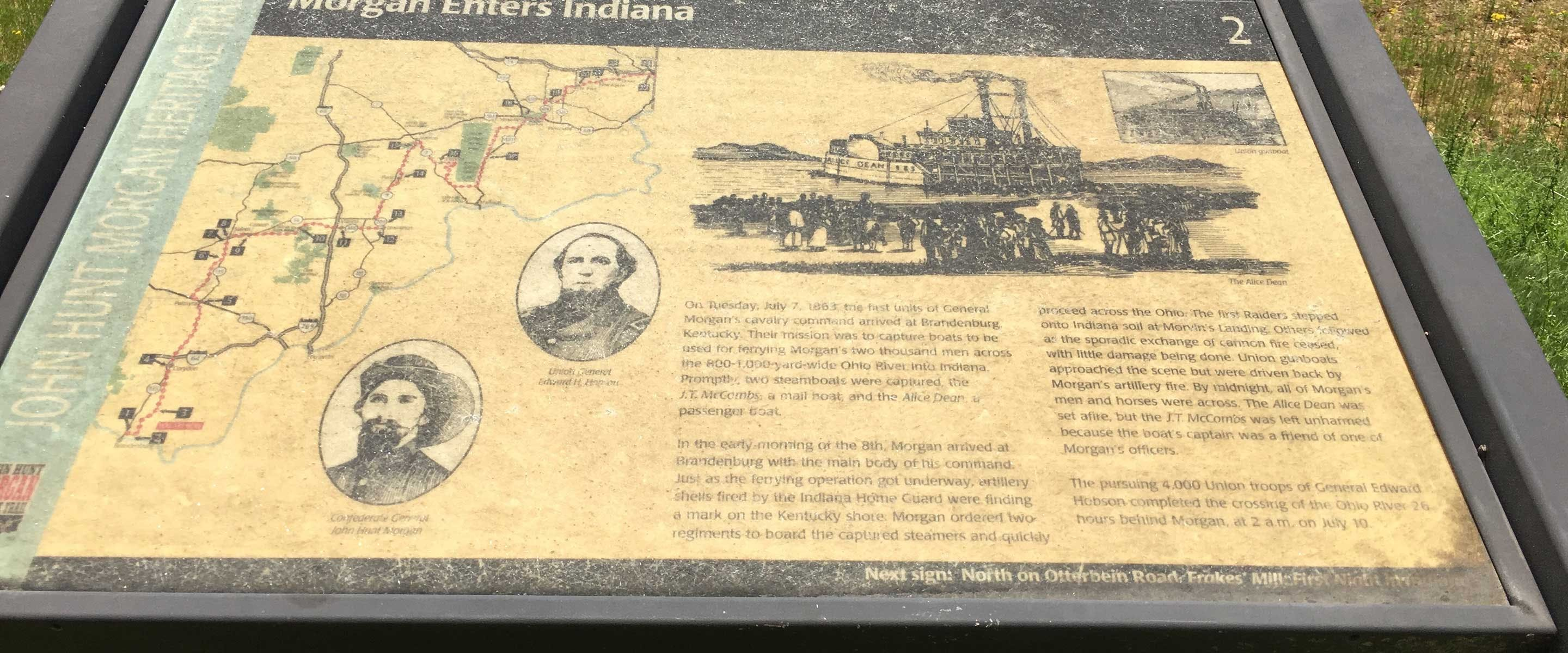 upclose view of the map in the park detailing its history