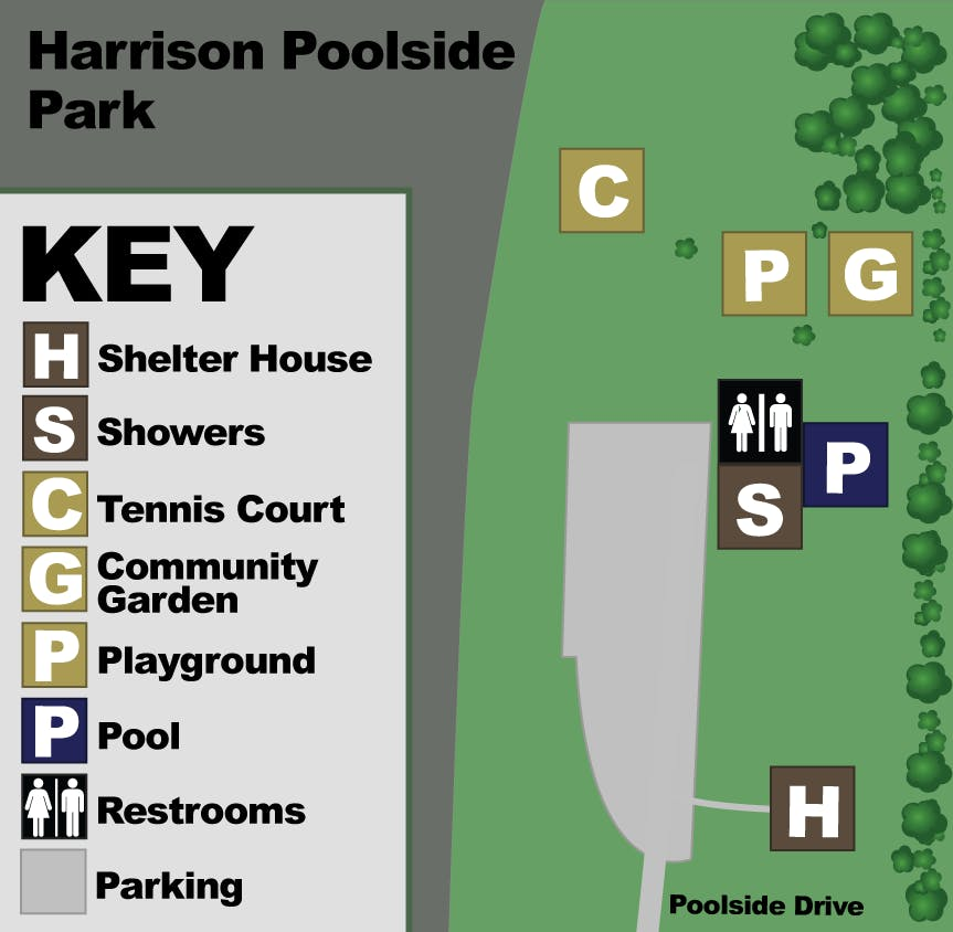 Rhoads Pool Park Map