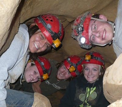 Caving builds relationships image